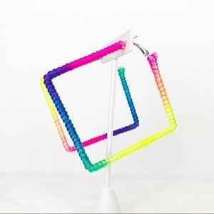 🌺 3 for $20 🌺 Florescent Square Earrings